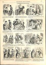 Comédie dans les salons de Paris sous Napoléon III dessin de Cham GRAVURE 1859