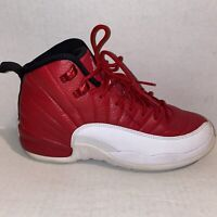 Nike Air Jordan 12 Retro BG Gym Red White Black Alternate 153265-600 Size 6.5y