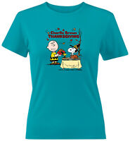 Charlie Brown Snoopy Thanksgiving Classic Girls Juniors Women Teen Tee T-Shirt