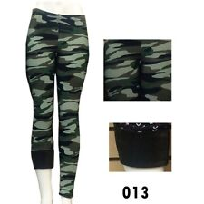 Super Thick Insulate Microfleece Warm Winter Legging Stretchy  Army Printed