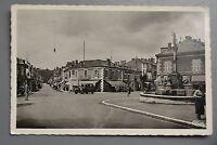 R&L Postcard: France Real Photo, Unknown Town, Paris Postmark, Vintage Car