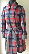 MARC BY MARC JACOBS WOMENS COAT ALAPACA/WOOL, RED,GREY, BLK LG CHECK, SZ S, NWOT