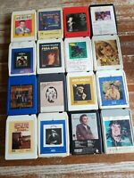 LOT OF 16 play TESTED VG + 8 TRACK TAPE COUNTRY ARNOLD TWITTY REEVES RICH + MORE