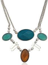 $65 Lucky Brand Roadmap Quartz Multicolor Stone 2-Row Frontal Necklace JLRY2507