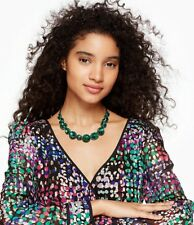 Kate Spade New York 'Absolute Sparkle' Collar Necklace Emerald Green Stones
