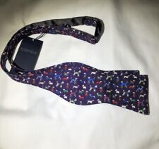 CREMIEUX ADJUSTABLE SILK BOW TIE Purple Dog Lover Dogs In Sweater
