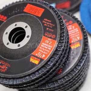 "40 GRIT 50 PACK 4.5 PREMIUM ZIRCONIA FLAP DISC SANDING GRINDING 4-1/2"" X 7/8"""