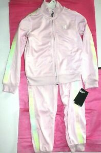 Girls sz 6X Hurley 2 pc set Matching outfit Tracksuit Shirt + Pants Pink New