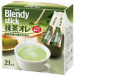 AGF Blendy Stick Matcha Green Tea au Lait Instant Drink 21 Sticks Japan