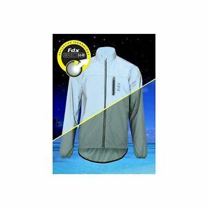 FDX Mens High Visibility 360 Reflective Cycling Waterproof Jacket & Running Coat
