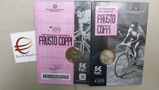 coin card 5 euro Italia 2019 COPPI Fausto Italie Italy Italien Италия fdc BU 100