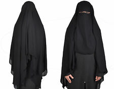 Extra lang Niqab Gesichtsschleier Hijab Gebets- Islamische Kleidung HI0382