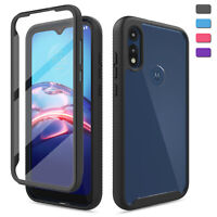 For Motorola Moto E7/E 2020 Case Slim With Built-In Screen Protector Phone Cover
