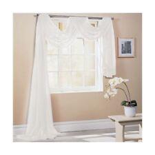 Ivoire 150x500cm 150x500cm SUR MESURE écharpe de fenêtre de voile lambrequin