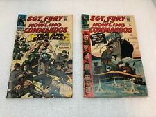 LOT OF 2 COMICS SGT. FURY AND HIS HOWLING COMMANDOS