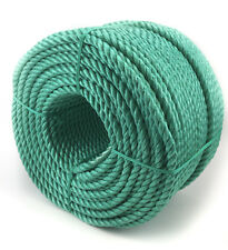 10mm Green Polypropylene Rope x 10 Metres, Poly Rope Coils, Cheap Nylon Rope