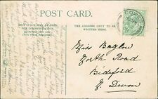 Maude A W Baglow. 26 North Road, Bideford,  Devon 1908  (JC.393)