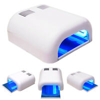 36W White UV Lamp Gel Polish Curing Dryer Light 48 Acrylic UV Nail Art Kit Set
