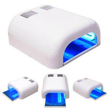 36W Manicure Nail Polish UV Lamp Dryer Gel Curing Acrylic Timer Light Brand New