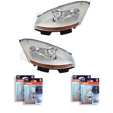 Halogen Headlight Set Citroen C4 Picasso 01.07-10.10 H7/H1 without Motor