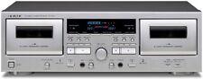 Teac W-1200 doppio Cassetta Piastra Lettore Argento Ac100v da Giappone