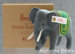 Steiff 1995 Harrods 100 year Anniversary Grey Little Felt Elephant Ean 653155