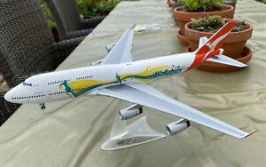 Herpa Diecast Boeing 747 Qantas 1:200 Scale - Go Wallabies - The Great Crusade