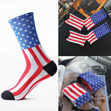 Fashion American Flag Mens Cotton Stars&Stripes USA Socks Old Glory Casual Socks