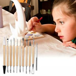 11PCS Polymer Clay Tools Kit Set Modelling Sculpting Tool Pottery Art UK Stock