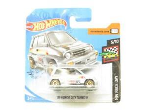 Hotwheels 85 Honda City Turbo II Argent Hw Raceday Court Carte 1 64 Scale Scellé