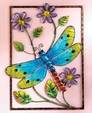3D Colorful Glass Wall Art Dragonfly Blue Heron Birds Framed Sculptures Art