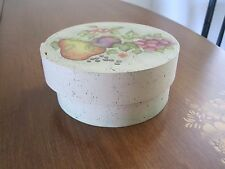 HAND-CRAFTED WOODEN BOXED COASTER SET PAINTED FRUIT