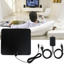 Digital USB Indoor Flat HD TV Antenna 50 Miles Range Signal 1080P Amplified HDTV