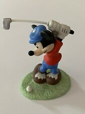 Disney Mickey Mouse Playing Golf Figurine Red Shirt Blue Pants