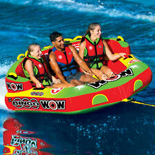 WOW Sports Bingo 1-3 Person Towable Water Tube For Pool and Lake (14-1070)