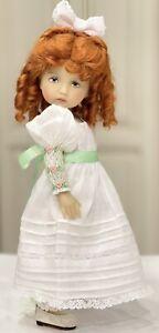 "Boneka 10"" Doll Hand Smocked Sleeves Regency Dress 4 Monday Tuesday Child"