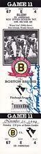 Milt Schmidt Woody Dumart Boston Bruins Autographed 1994 Full Ticket W/COA  67