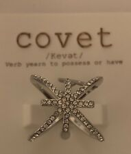 COVET Silver Rhinestone Crystal Ring size 5 Nordstrom $38 ❤️ NWT