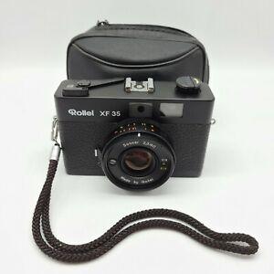 Rollei XF 35 Rangefinder 35mm Film Camera w/ 40mm f/2.3 Sonnar Lens & Case Works