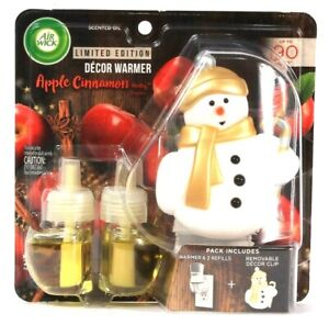 Air Wick Limited Edition Apple Cinnamon Medley 2 Refills & Warmer With Clip