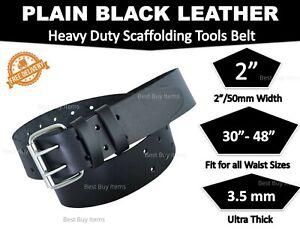 Scaffolding Black Leather Tools Belt Heavy Duty Professional Work 2'' wide