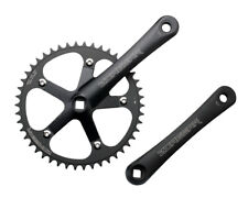 New Black Single Speed Track Fixed Gear Crank Crankset 170mm 46 Teeth 130 BCD