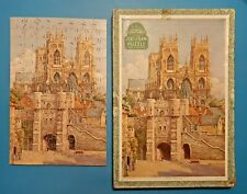 Vintage Victory Wooden Jig-saw Puzzle Cathedral Series York Minster 125 Pieces