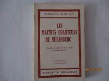 Maîtres Chanteurs de Nürenberg, Texte, Version française d'Alfred Ernst, 1974