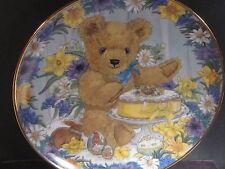 Franklin Mint  TEDDY'S EASTER TREAT  Teddy Bear  Ltd Ed Plate