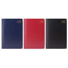 Premium Quality 2021 A4 Week to View Diary Padded Hardback Gilt Edge New