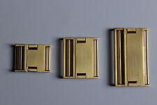 Steckschnalle, Metall, goldfarben, glänzend, 25 mm