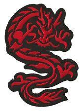 Ecusson patche Dragon rouge petit patch transfert thermocollant