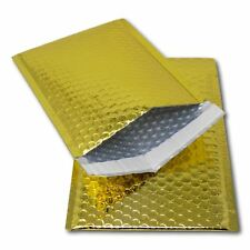 5 Gold 250mm x 180mm A5/C5 DVD Shiny Metallic Bubble Padded Mailing Envelopes