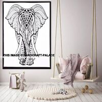 Indian Elephant Psychedelic Tapestry Wall Hanging Mandala Hippie Bohemian Ethnic